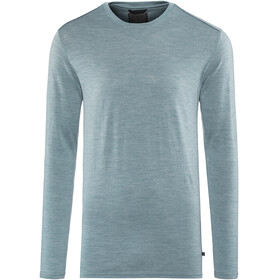 Alchemy M's 180GSM Single Jersey Merino LS Crew Smokey Blue Marle
